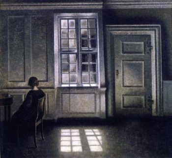 Interior 2 | Vilhelm Hammershoi | oil painting