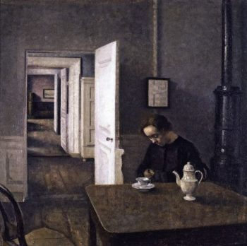 Interior 3 | Vilhelm Hammershoi | oil painting