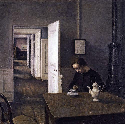 Interior 3 | Vilhelm Hammershoi | oil painting