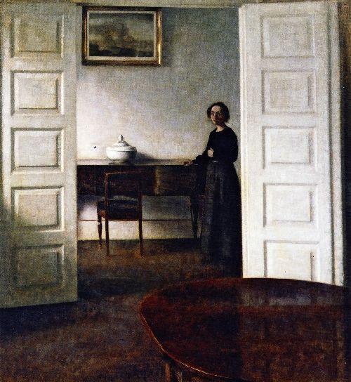 Interior Bredgade   Vilhelm Hammershoi   oil painting