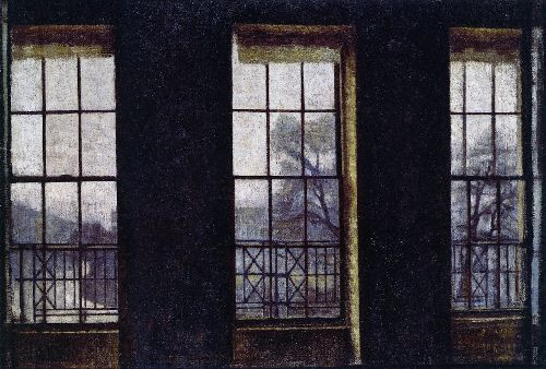 Interior in London Brunswick Square | Vilhelm Hammershoi | oil painting