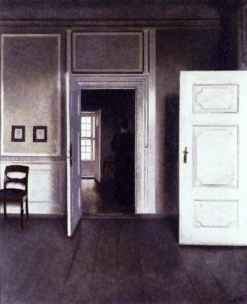 Interior Strandgade 30s | Vilhelm Hammershoi | oil painting