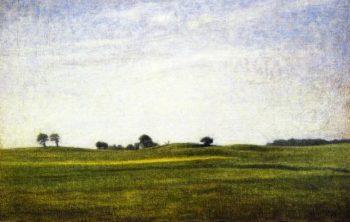 Landscape Gentofte | Vilhelm Hammershoi | oil painting