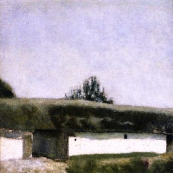 Landscape with Barn | Vilhelm Hammershoi | oil painting