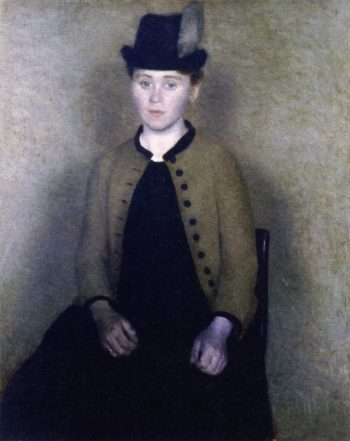 Portrait of Ida Ilsted Later the Artists Wife | Vilhelm Hammershoi | oil painting