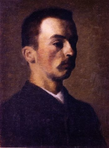 Self Portrait | Vilhelm Hammershoi | oil painting