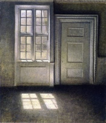 Study in Sunlight | Vilhelm Hammershoi | oil painting