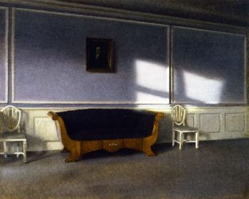 Sunshine in the Drawing Room | Vilhelm Hammershoi | oil painting