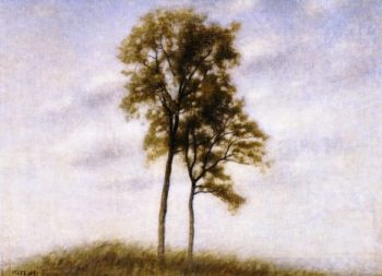 Young Oak Trees | Vilhelm Hammershoi | oil painting