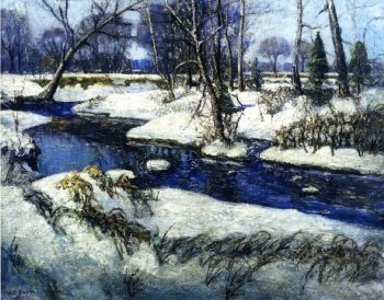 The Creek in Winter | Walter Emerson Baum | oil painting