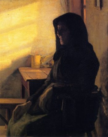 A Blind Woman in Her Room | Anna Ancher | oil painting