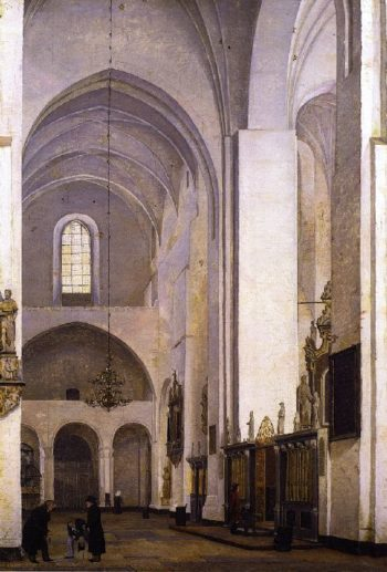 The Transept of Aarhus Cathedral | Christen Kobke | oil painting
