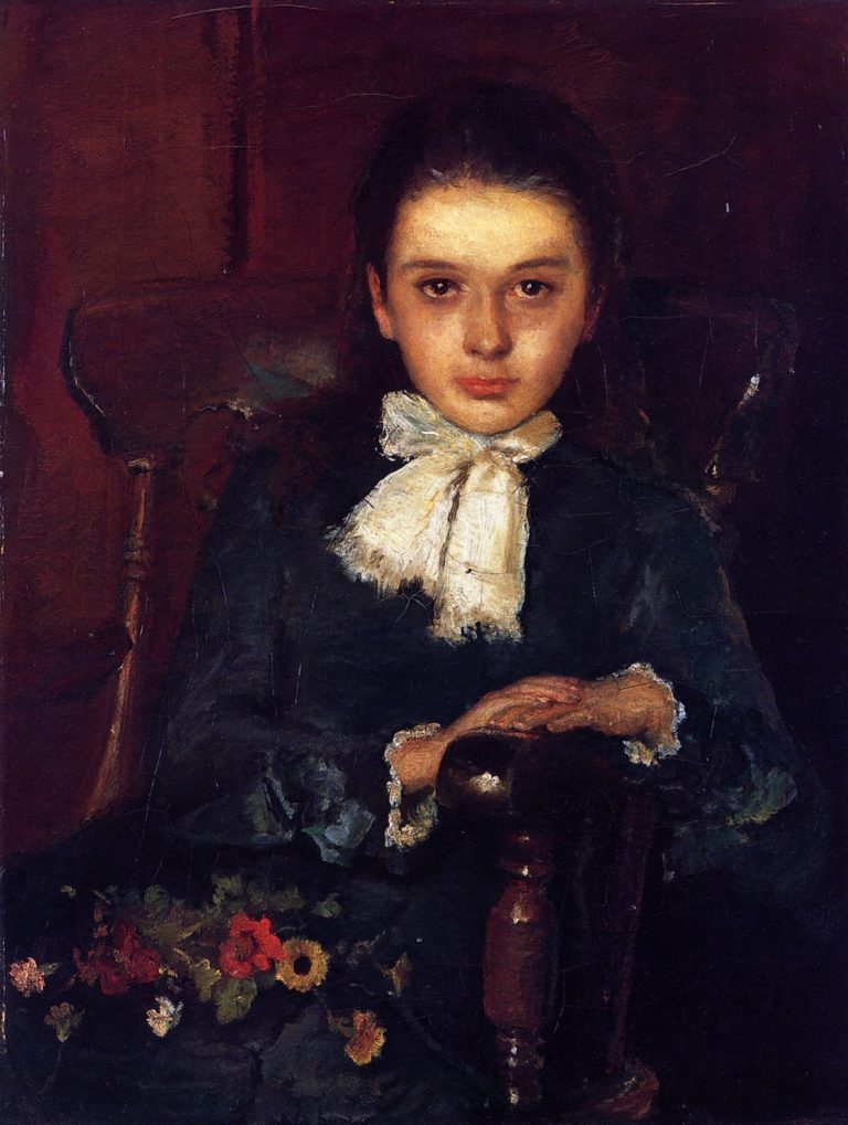 Frances Elizabeth Geoghegan as a Child | John Butler Yeats | oil painting
