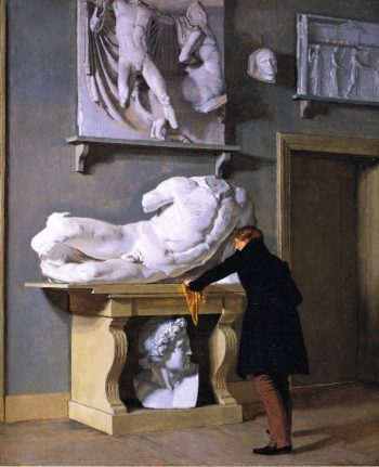 View of the Plaster Cast Collection at Charlottenborg Palace   Christen Kobke   oil painting