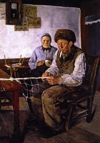 The Net Mender | Christian Krohg | oil painting