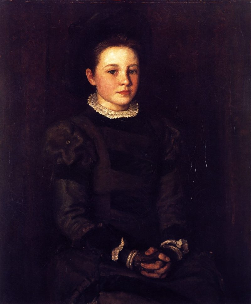 Hester Dowden as a Child | John Butler Yeats | oil painting