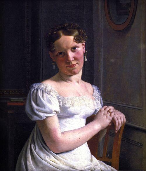 Julie Eckersberg the Artists Second Wife | Christoffer Wilhelm Eckersberg | oil painting