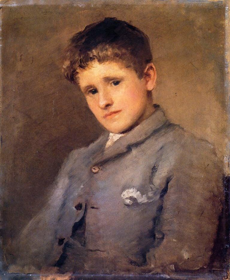 Jack B Yeats as a Boy 1 | John Butler Yeats | oil painting