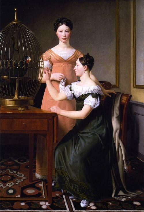 Mendel Levin Nathansons Elder Daughters Bella and Hanna | Christoffer Wilhelm Eckersberg | oil painting