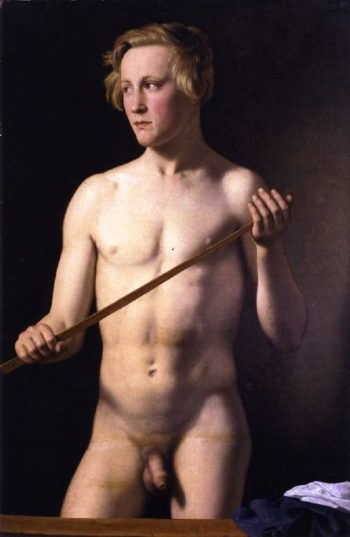 Standing Male Model | Christoffer Wilhelm Eckersberg | oil painting