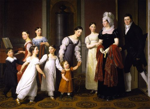 The Nathanson Family | Christoffer Wilhelm Eckersberg | oil painting