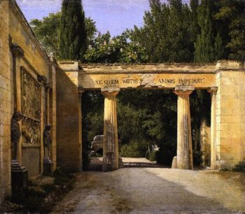 View of the Garden of the Villa Borghese in Rome | Christoffer Wilhelm Eckersberg | oil painting