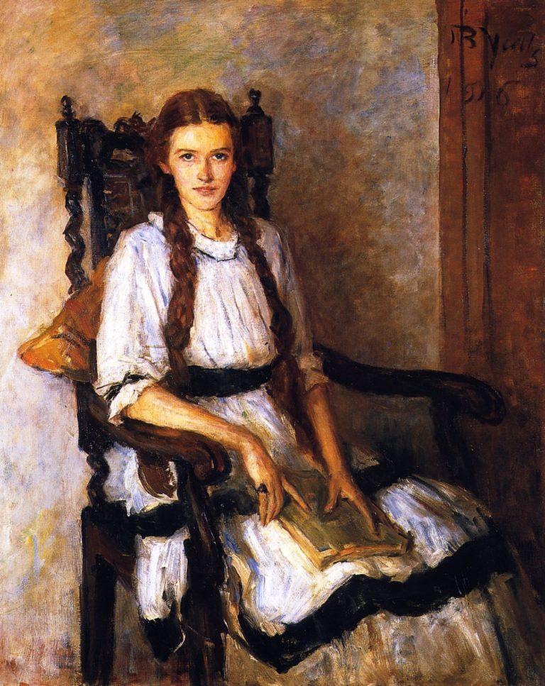 Mary Lapsley Caughey   John Butler Yeats   oil painting