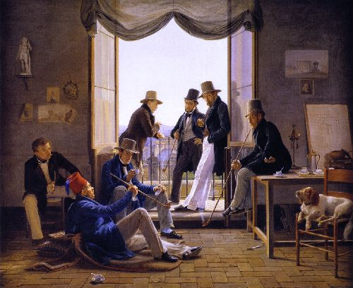 A Party of the Danish Artists in Rome | Constantin Hansen | oil painting
