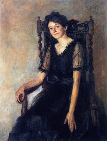 Mrs Mary Tower Lapsley Caughey seated | John Butler Yeats | oil painting