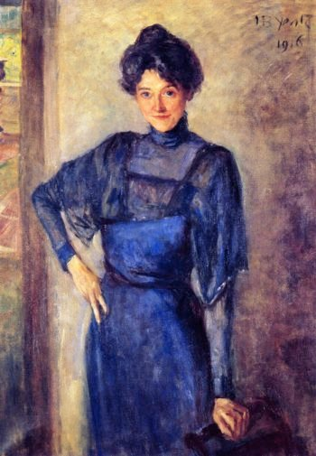 Mrs Mary Tower Lapsley Caughey standing | John Butler Yeats | oil painting