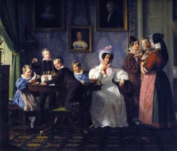 The Waagepetersen Wamily | Wilhelm Marstrand | oil painting