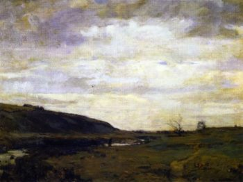 The Muskrat Hunter | William Langson Lathrop | oil painting