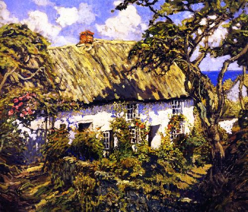 A Cornish Home | Walter Elmer Schofield | oil painting