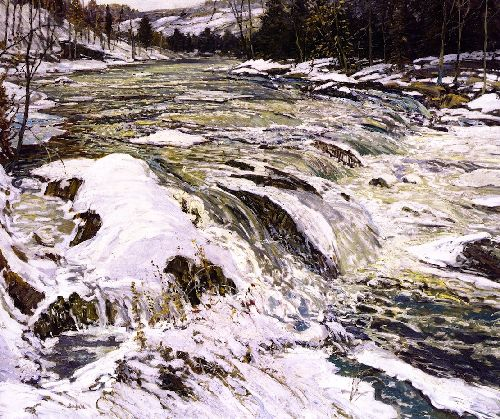 The Rapids | Walter Elmer Schofield | oil painting