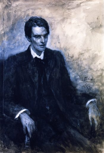 Wash study portrait of William Butler Yeats | John Butler Yeats | oil painting