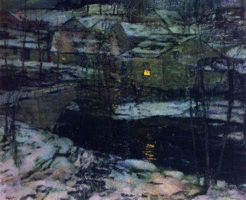 Winter Landscape | Walter Elmer Schofield | oil painting