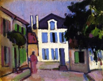 A Back Street in Royan | John Duncan Fergusson | oil painting