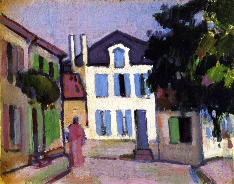 A Back Street in Royan | John Duncan Fergusson | oil painting