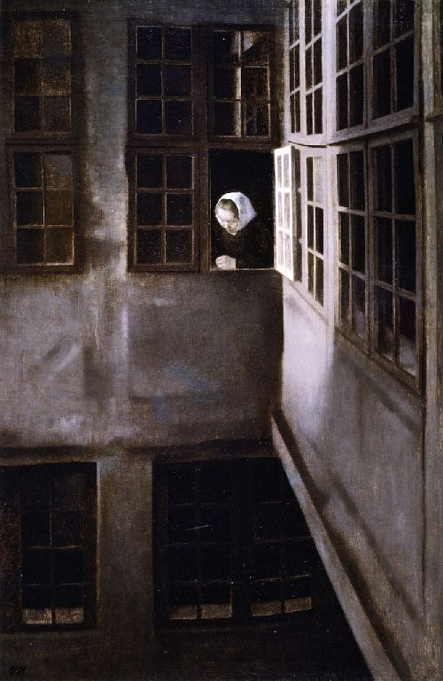 Courtyard Interior at Strandgade 30 | Vilhelm Hammershoi | oil painting