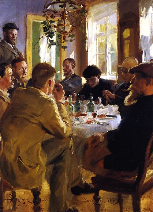 Artists Luncheon in Skagen | Peder Severin Kroyer | oil painting