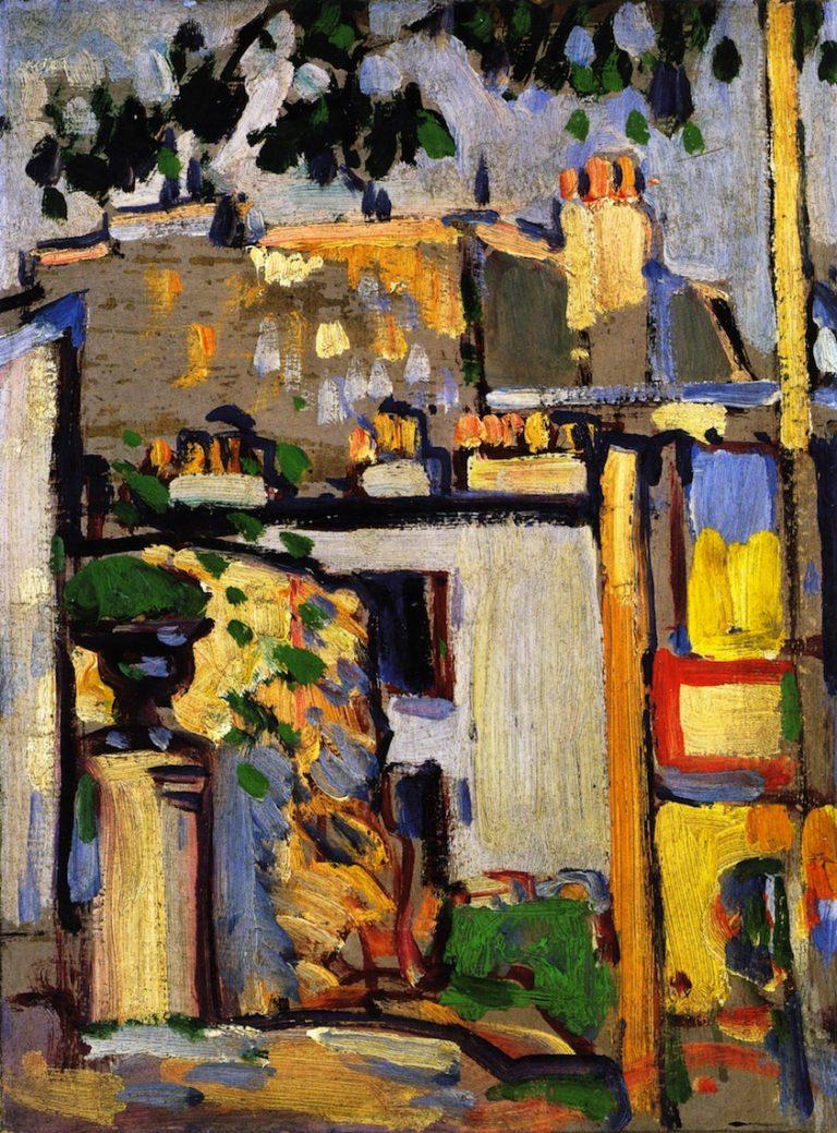 Boulevard Edgar Quinet Paris   John Duncan Fergusson   oil painting