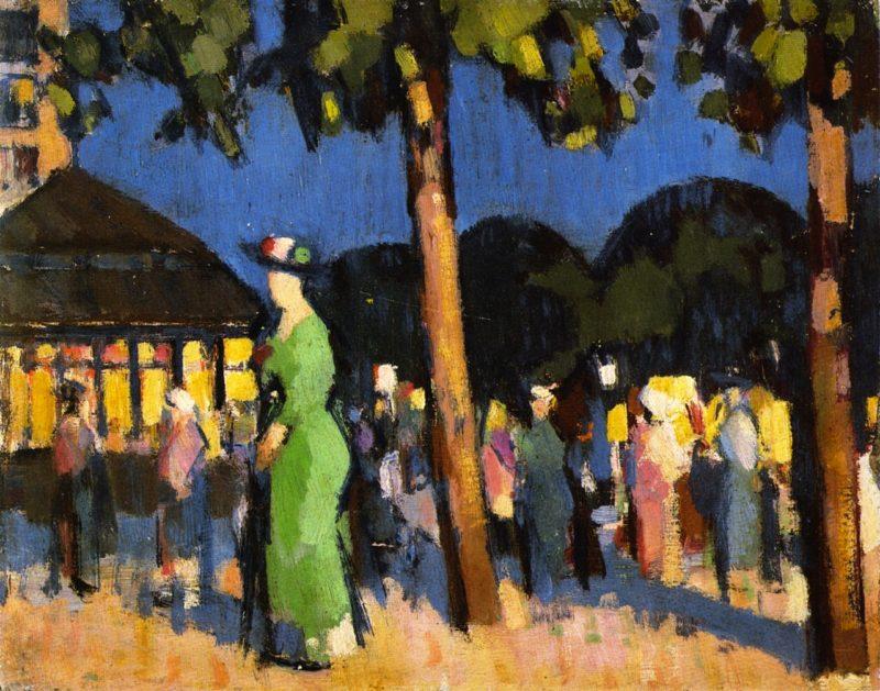 Carrefour de l'Observatoire | John Duncan Fergusson | oil painting
