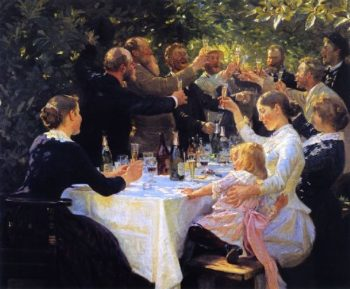 Hip Hip Hurrah | Peder Severin Kroyer | oil painting