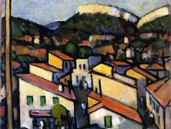Cassis from the West | John Duncan Fergusson | oil painting