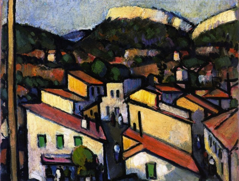 Cassis from the West   John Duncan Fergusson   oil painting