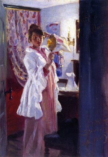 Interior with the Artists Wife | Peder Severin Kroyer | oil painting
