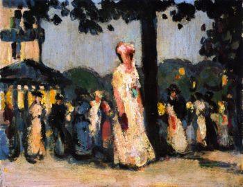 Closerie des Lilas | John Duncan Fergusson | oil painting