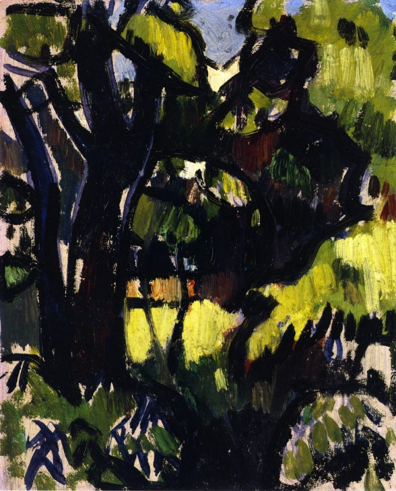 Dark Tree and Foliage | John Duncan Fergusson | oil painting