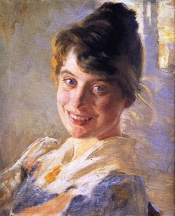 Portrait of the Artists Wife Marie | Peder Severin Kroyer | oil painting