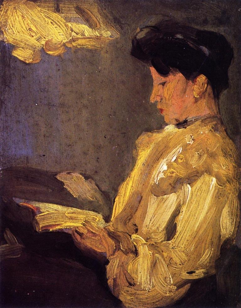 Lamplight   John Duncan Fergusson   oil painting
